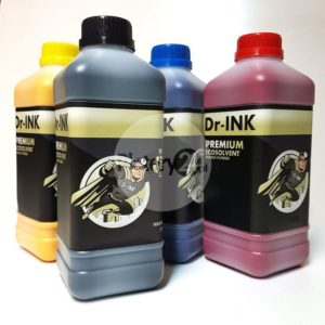Tusz Dr-INK PREMIUM Ecosolvent DX5 DX6 DX7 1L 1000ml High Quality eko-solwent atrament Double Filtered CMYK