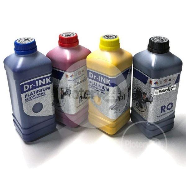 Dr-INK Ecosolvent PLATINIUM Double Filtered Nano Atrament Tusz 1L 1000 ml CMYK Roland Mutoh Mimaki
