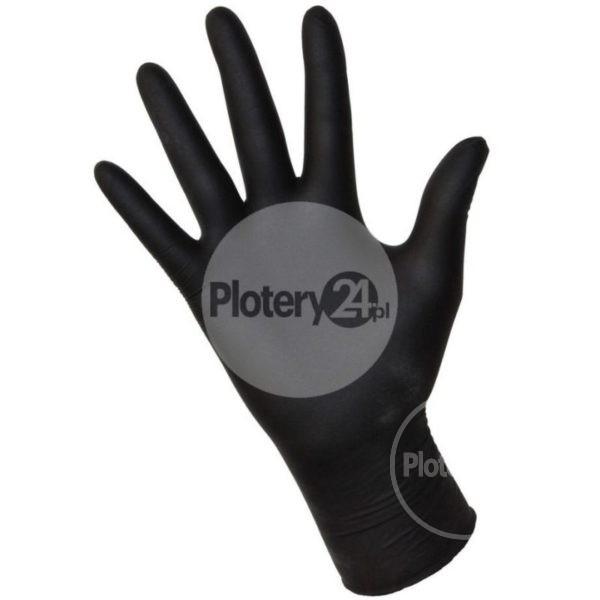 Rękawice jednorazowe czarne 100 SZTUK XL odporne na solvent solwent do serwisowania rękawiczki gumowe